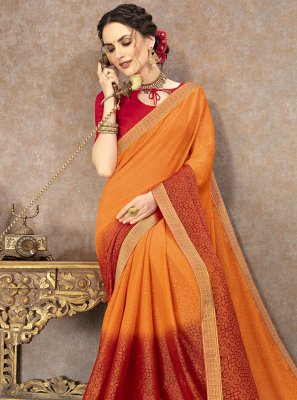 Multi Colour Fancy Fabric Trendy Saree