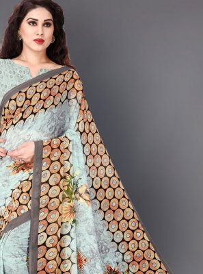 Multi Colour Faux Georgette Casual Casual Saree