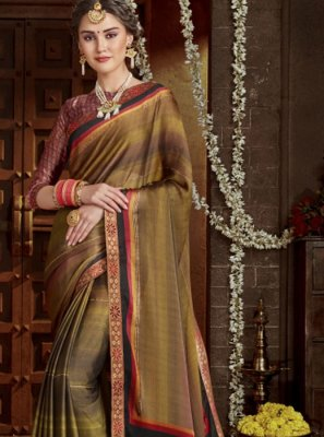 Multi Colour Festival Classic Designer Saree