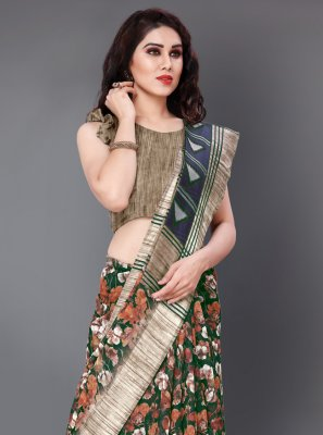 Multi Colour Festival Contemporary Saree