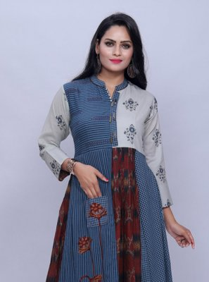 Multi Colour Festival Cotton Designer Kurti