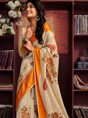 Multi Colour Festival Cotton Printed Saree
