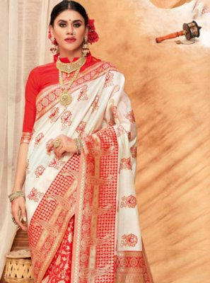 Multi Colour Festival Silk Classic Saree