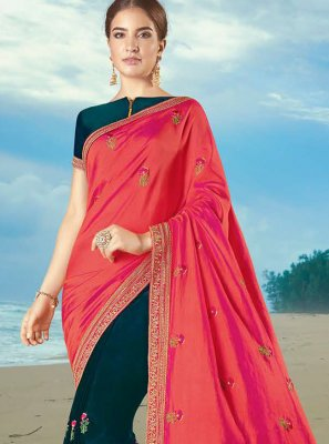 Multi Colour Festival Silk Contemporary Saree