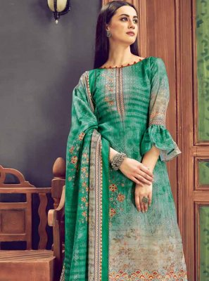 Multi Colour Festival Trendy Palazzo Salwar Suit