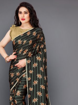 Multi Colour Floral Print Classic Saree