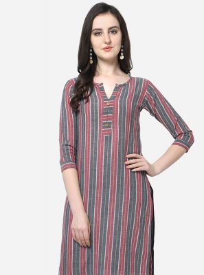 Multi Colour Floral Print Party Wear Kurti
