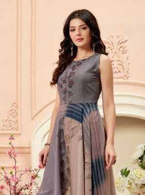 Multi Colour Georgette Printed Party Wear Kurti