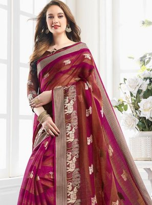 Multi Colour Handloom Cotton Shaded Saree