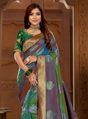 Multi Colour Party Classic Saree