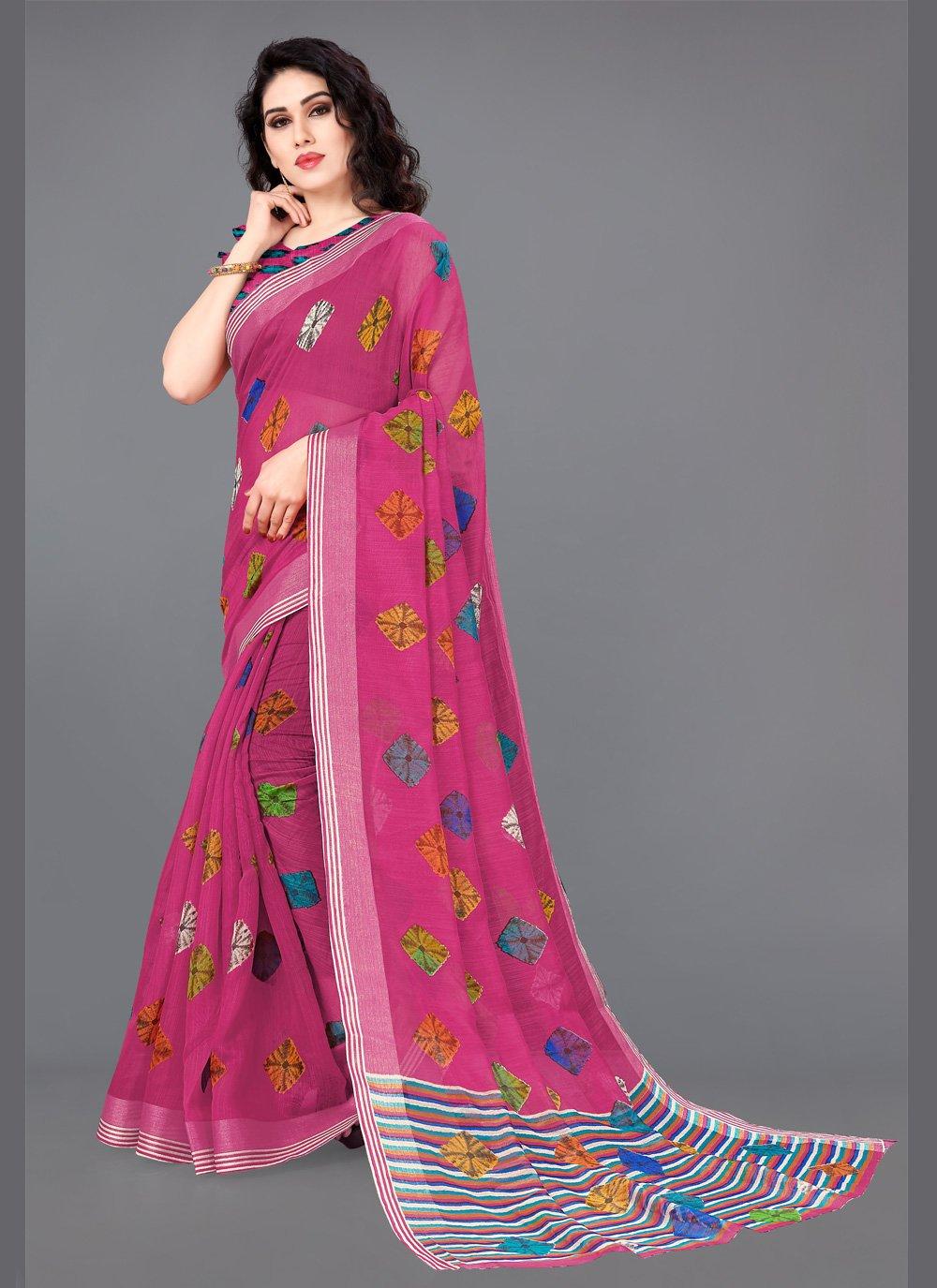 Multi Colour Party Cotton Bollywood Saree