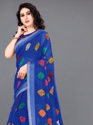 Multi Colour Party Cotton Designer Saree