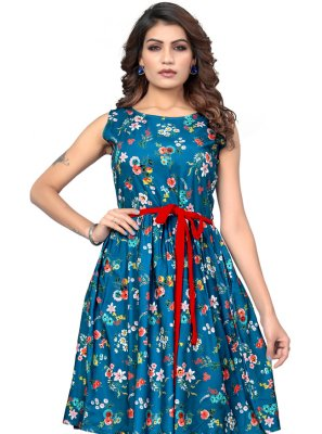 Multi Colour Party Designer Kurti