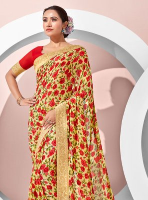 Multi Colour Party Designer Saree