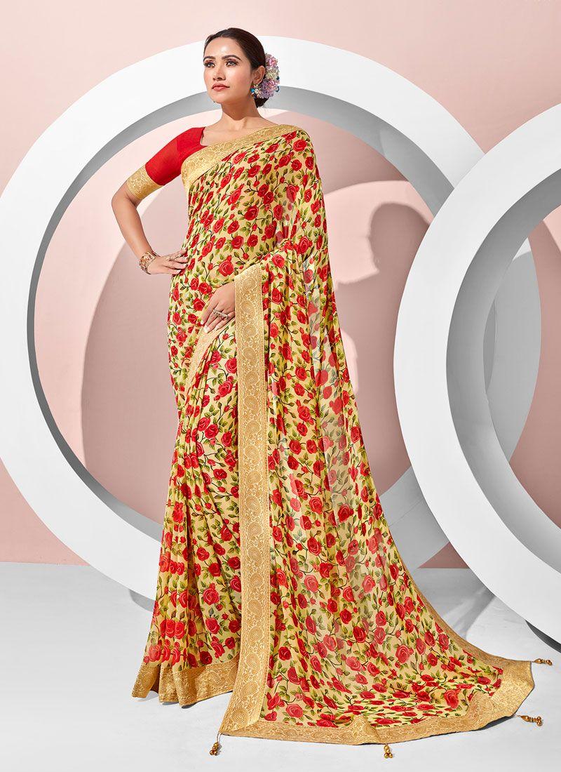 Multi Colour Party Designer Saree