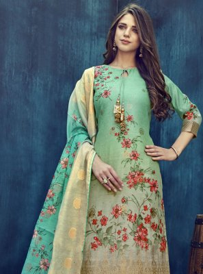 Multi Colour Party Jacquard Designer Salwar Kameez