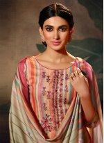 Multi Colour Party Pashmina Designer Palazzo Suit