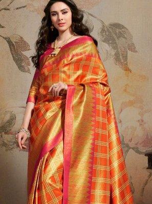 Multi Colour Party Printed Saree
