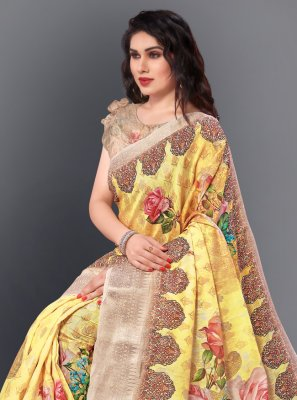 Multi Colour Party Silk Casual Saree
