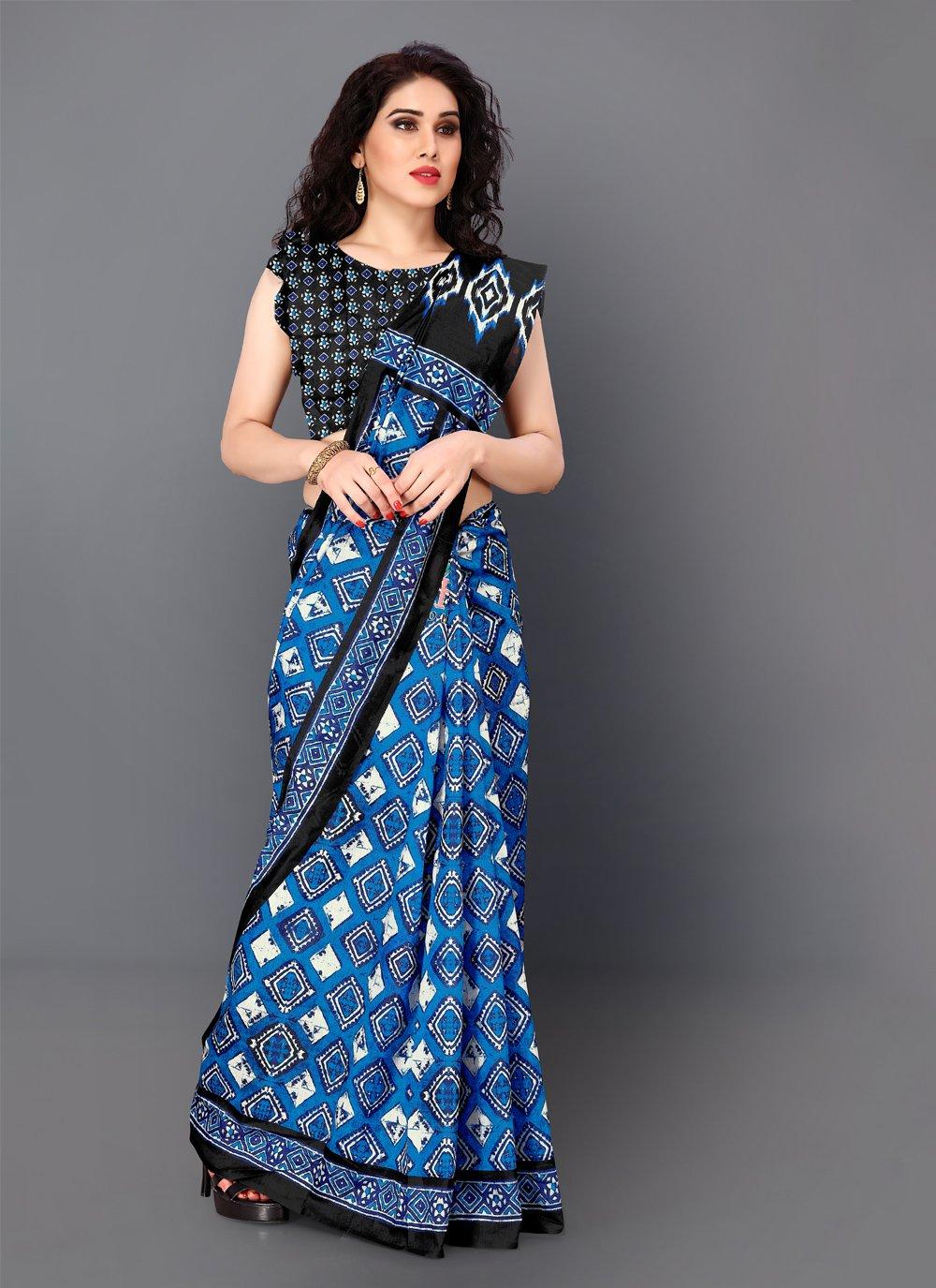 Multi Colour Party Silk Classic Saree