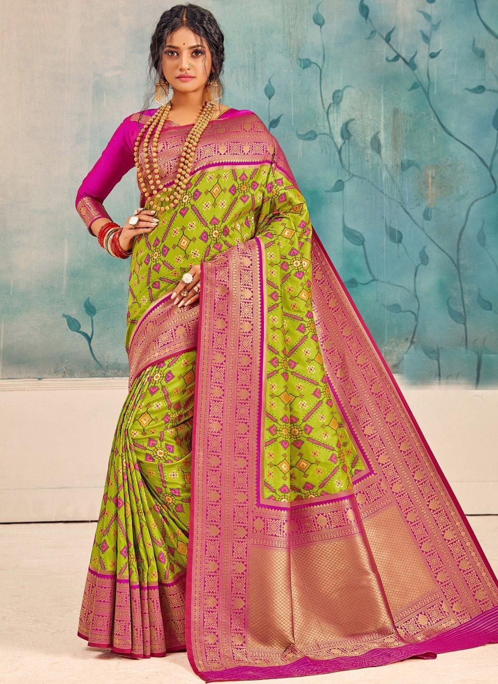 Multi Colour Party Silk Saree