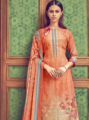 Multi Colour Pashmina Diamond Designer Salwar Kameez