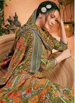 Multi Colour Pashmina Palazzo Salwar Suit
