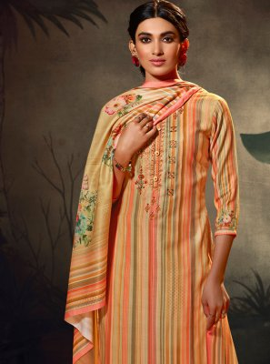Multi Colour Pashmina Palazzo Suit