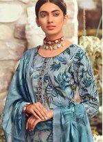 Multi Colour Pashmina Party Salwar Suit