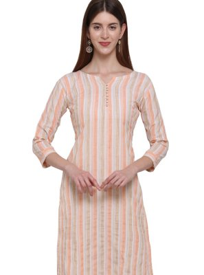 Multi Colour Plain Cotton Casual Kurti