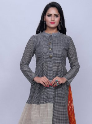Multi Colour Print Cotton Designer Kurti