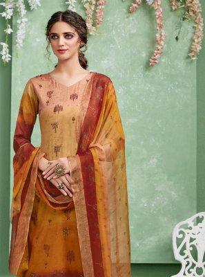 Multi Colour Print Palazzo Suit