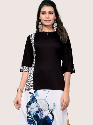 Multi Colour Printed Casual Kurti