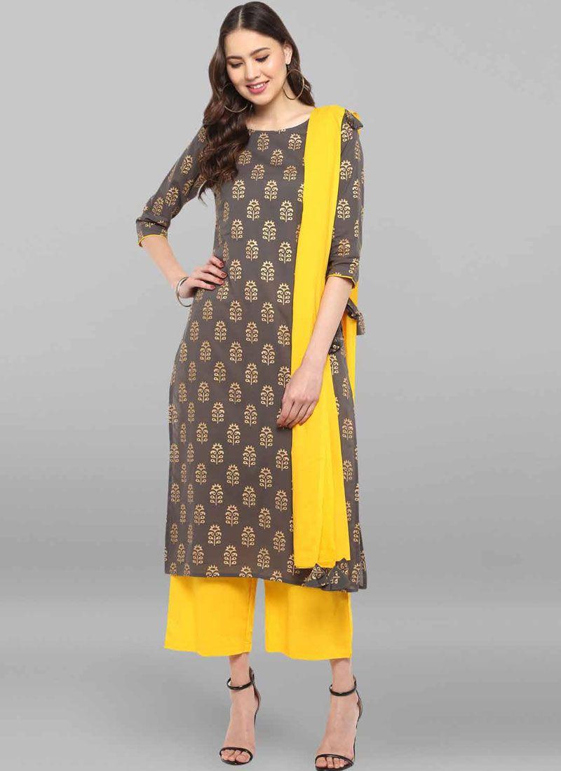 Multi Colour Printed Cotton Salwar Suit