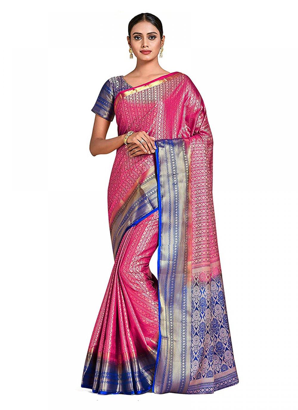 Multi Colour Printed Designer Traditional Saree