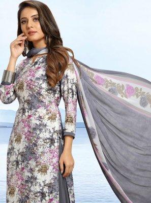 Multi Colour Printed Palazzo Designer Salwar Suit