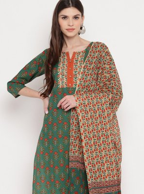 Multi Colour Printed Party Salwar Suit