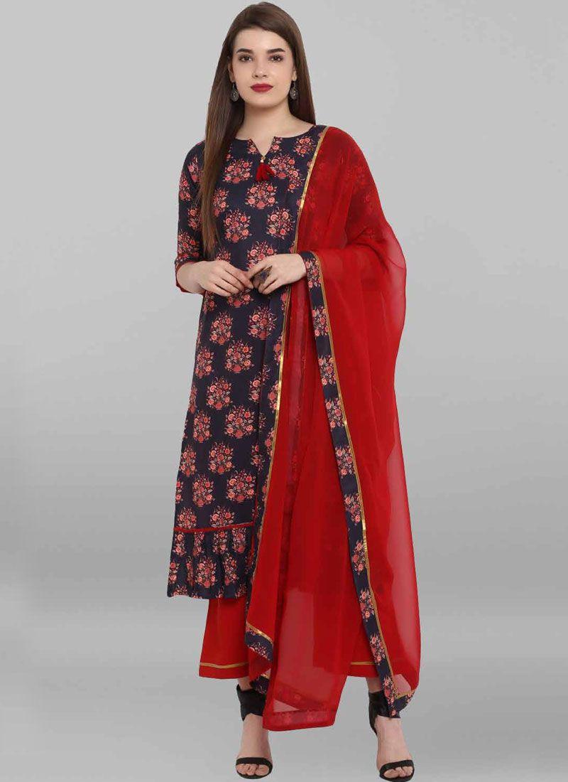 Multi Colour Printed Salwar Suit