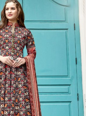 Multi Colour Printed Trendy Anarkali Salwar Kameez