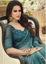 Multi Colour Pure Chiffon Saree