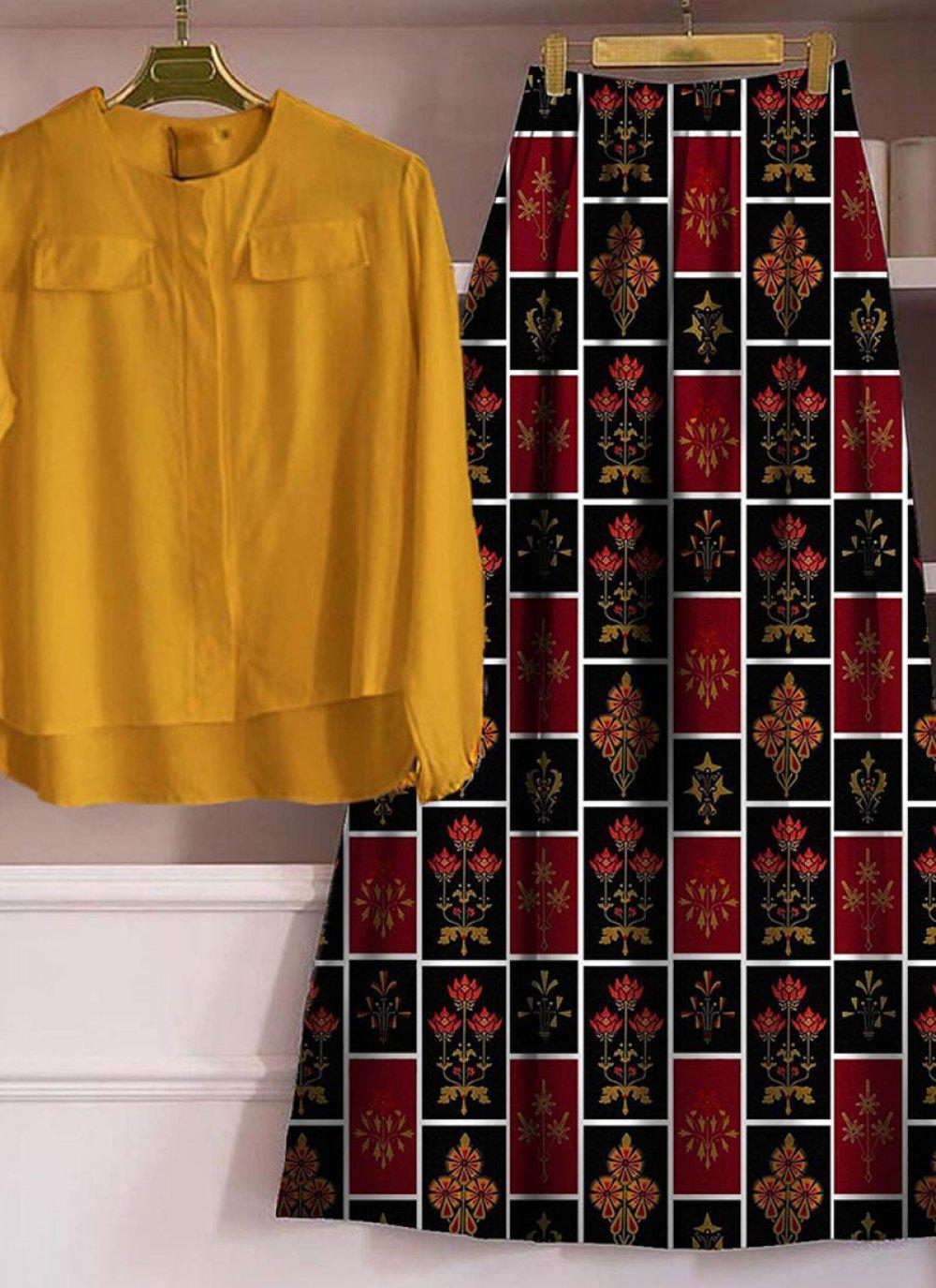 Multi Colour Rayon Digital Print Designer Lehenga Choli