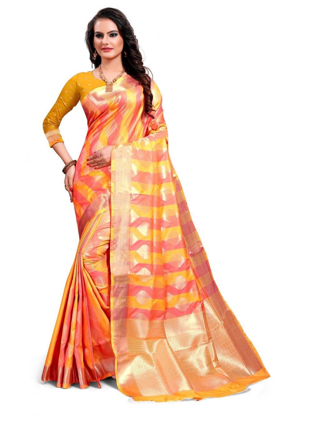 Multi Colour Reception Classic Saree