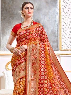 Multi Colour Reception Designer Saree