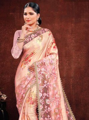 Multi Colour Resham Classic Saree