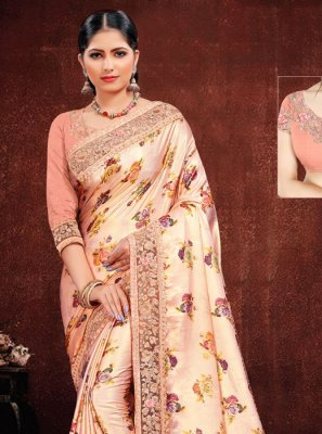 Multi Colour Resham Designer Saree
