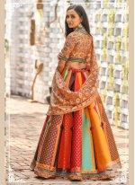 Multi Colour Resham Wedding Trendy Designer Lehenga Choli