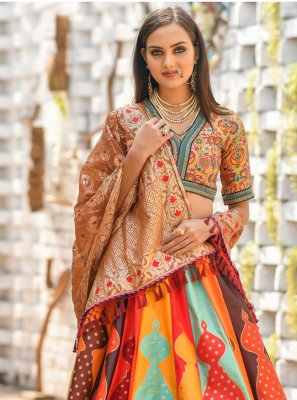 Multi Colour Resham Wedding Trendy Designer Lehenga Choli