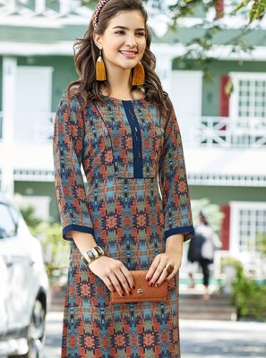 Multi Colour Sangeet Casual Kurti