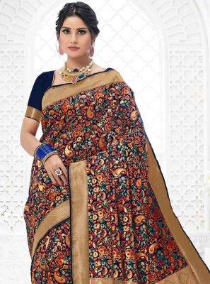 Multi Colour Sangeet Classic Designer Saree
