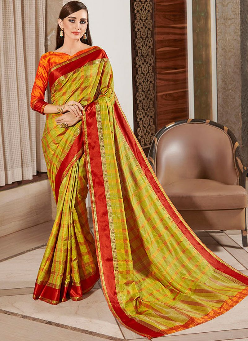 Multi Colour Silk Casual Classic Saree